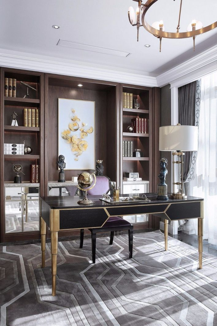 96 Modern Home Office Design Looks Elegant 36