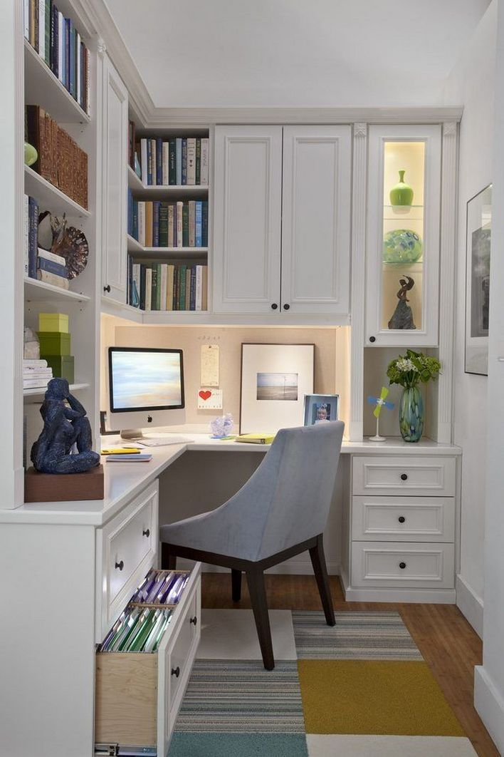 96 Modern Home Office Design Looks Elegant 66