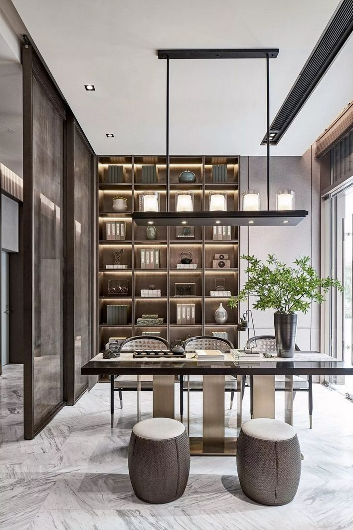 96 Modern Home Office Design Looks Elegant 70
