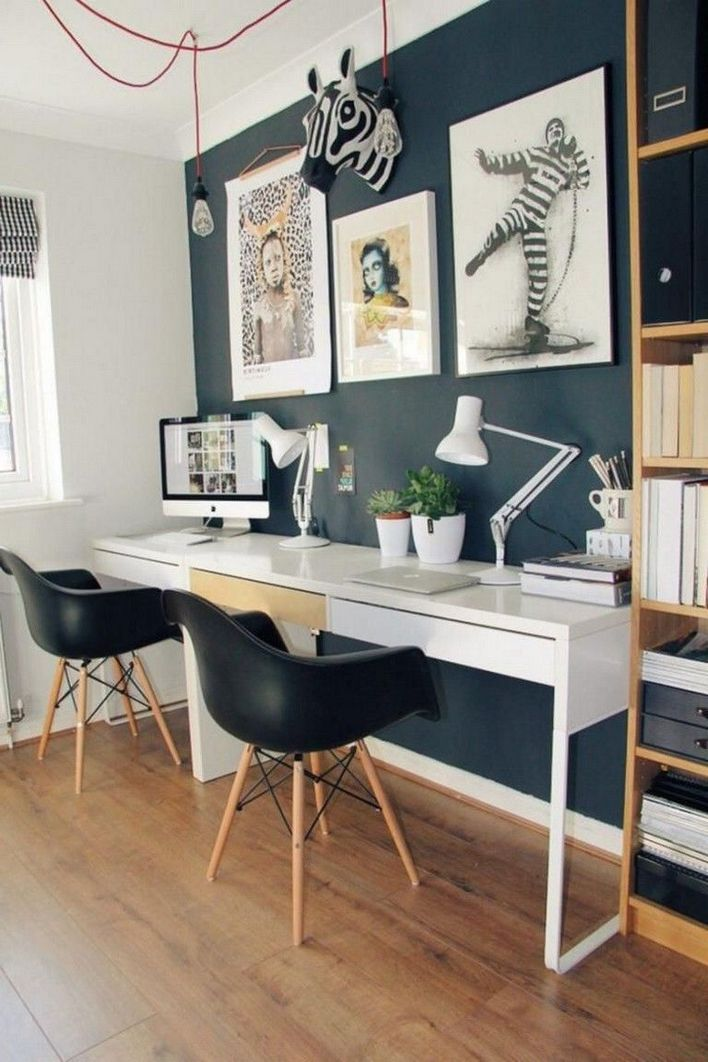 96 Modern Home Office Design Looks Elegant 79