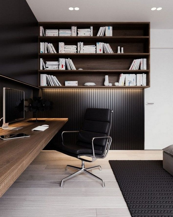 96 Modern Home Office Design Looks Elegant 86
