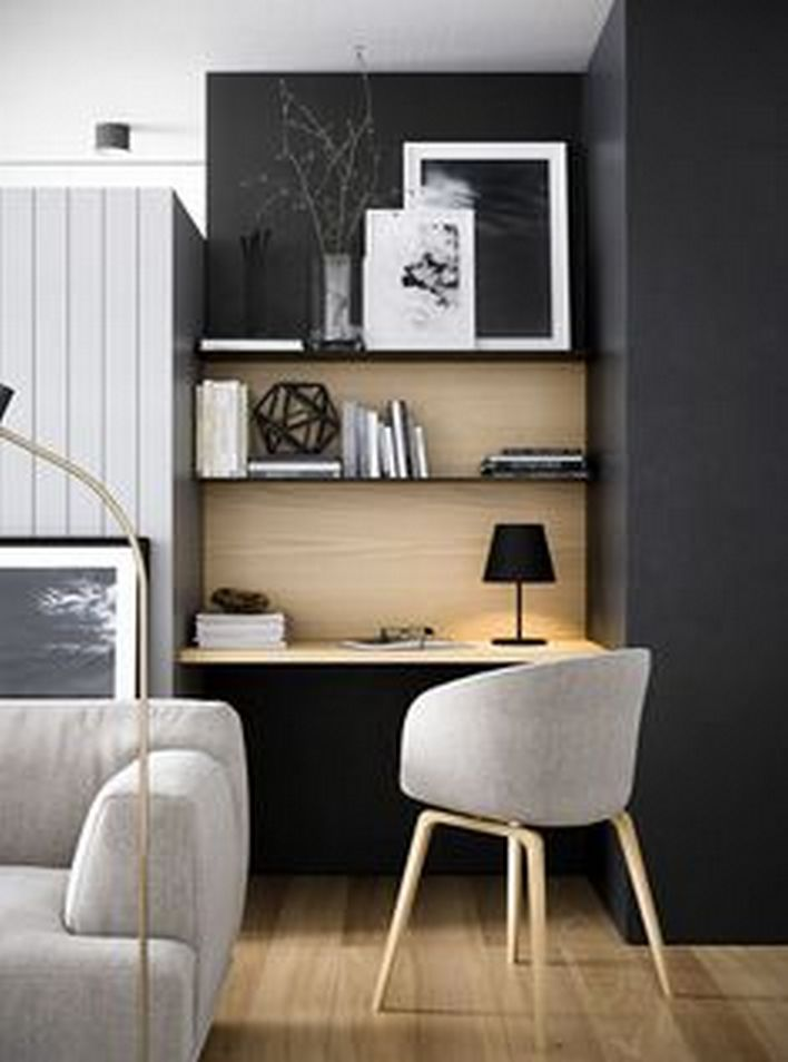 96 Modern Home Office Design Looks Elegant 95