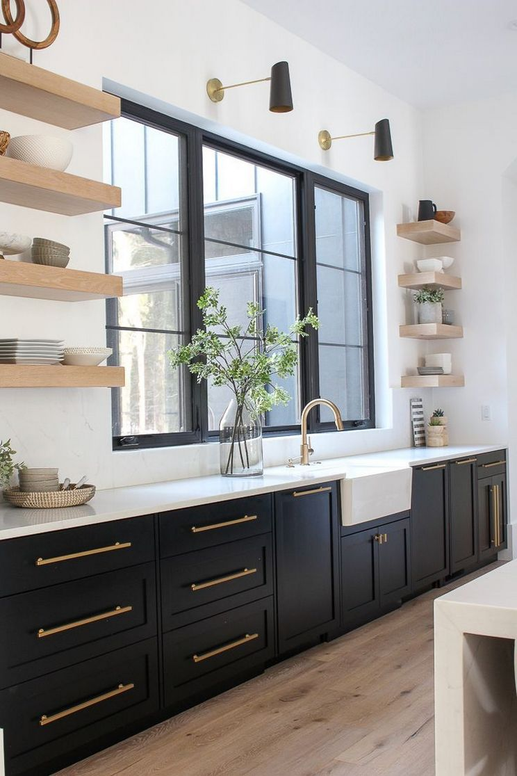 Beautifull Totally Modern Black And White Kitchen 3
