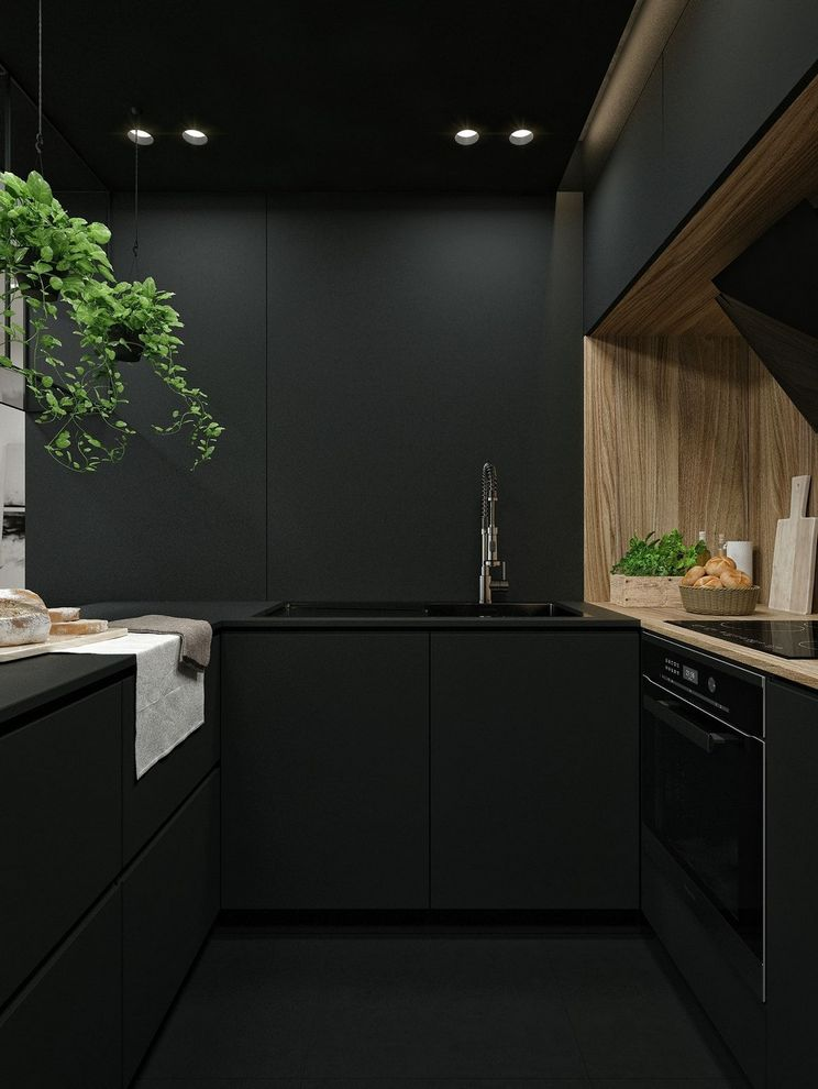 Beautifull Totally Modern Black And White Kitchen 65