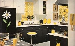 Tips For Creating Beautiful Black Or White Retro Themed Kitchens 15