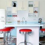 Tips For Creating Beautiful Black Or White Retro Themed Kitchens 60