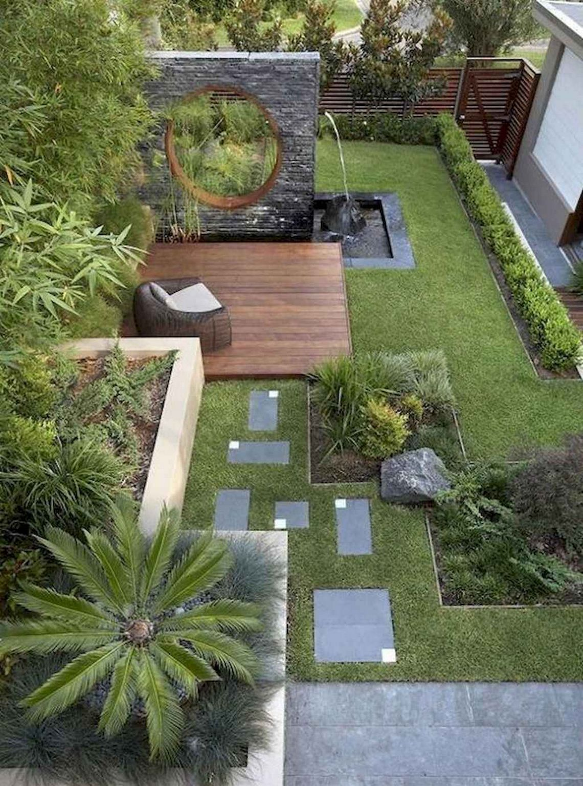 91 Small Backyard Landscape Decoration Models Are Simple And Look Creative 48