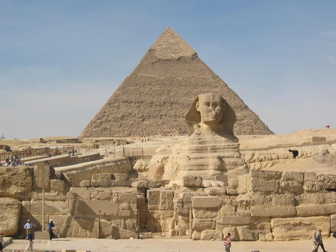 Piramide en sphinx