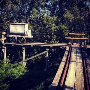 Oude mijn trein bij Knysna, Zuid-Afrika