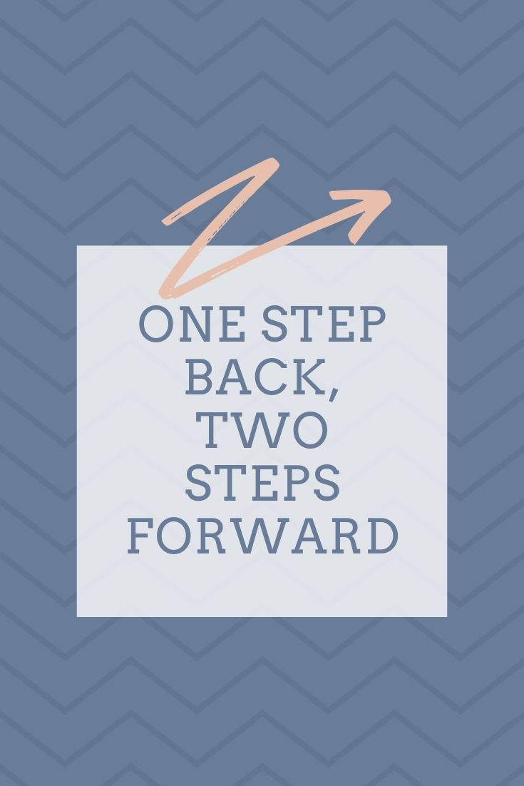 Motivatie quote: One step back, two steps forward