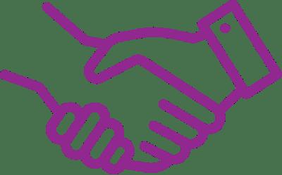 Vrolijke Strijders Handen schudden