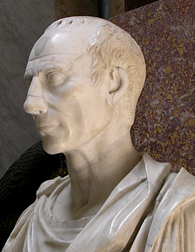 Vatican bust of Caesar, side