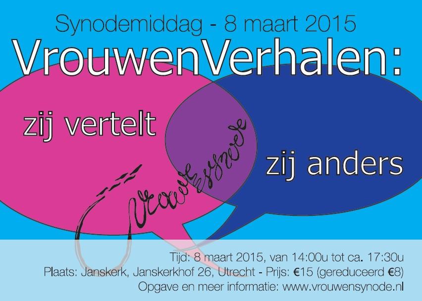 Vrouwensynode viert in 2015 weer 8 maart