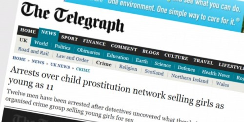 Arrests over child prostitution network selling girls as young as 11