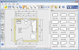 Bathroom CAD Software Interface