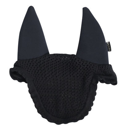 Equiline Soundless Ear Net in Black