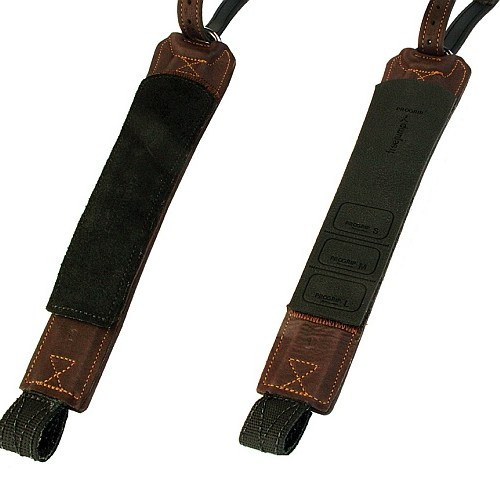 Freejump Stirrups Leathers Pro Grip in Brown with Grip or Leather