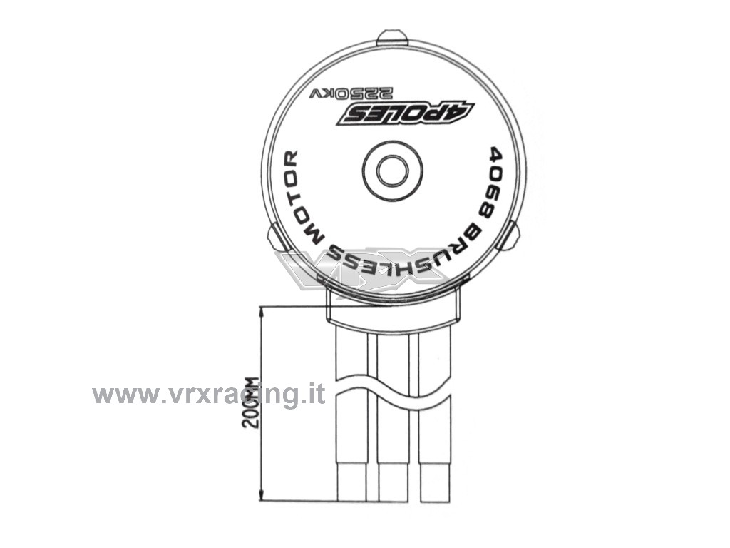 Motore Rocket 1 8 Kv Brushless Sensorless Albero