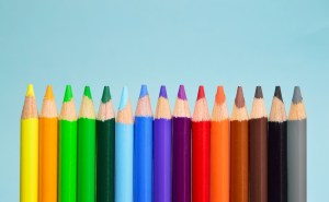 Farbstifte sehr bunt