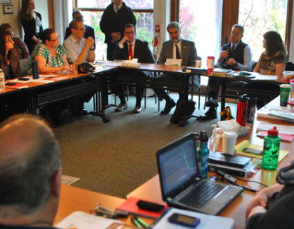 Gov. Peter Shumlin meeting with the full VSEA Board on Tuesday for a face-to-face endorsement interview.