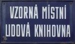 cedule z místní knihovny Dušníky