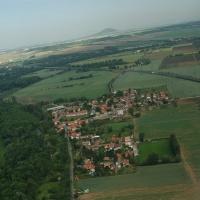 letecký snímek Všestud
