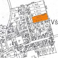 situační plánek umístění pozemků - ještě před přerozdělením původních parcel