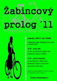 plakát: Žabincový prolog ve Všestudech 3/9/11