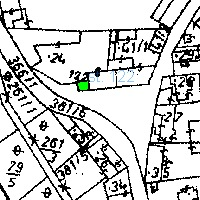 dotčený pozemek č. 122, který obec prodává