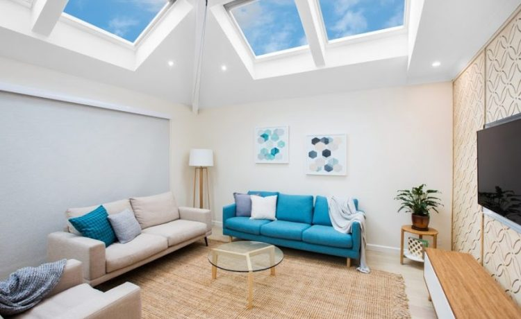 Light and bright living rooms with a Velux Skylight
