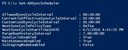 Get-ADSyncScheduler