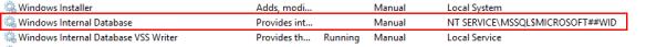 ADFS 3.0 Cannot start service MSSQL$MICROSOFT##WID 3