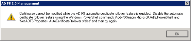 Solved] How to update ADFS certificate local and online