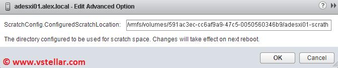 change esxi host swap file location