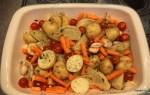 Подготавливаем овощи для запекания