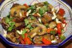 Готовый салат из баклажан с кедровыми орешками