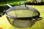 Сотейник в сеточку для овощей на гриле