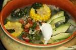 Ахиако, куриный суп с кукурузой