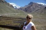 Заснеженная вершина Аконкагуа достигает 7 тыс. метров. Мендоса, Аргентина
