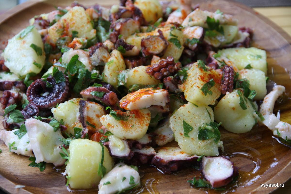 салат из осьминога с картофелем по итальянски
