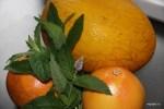 Дыня, грейпфрут и мята для супа