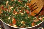Мангольд, помидор и козий сыр