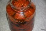 Маринованные баклажаны в соусе из болгарских перцев