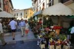 Цветочный рынок в центре Овьедо, Астурия