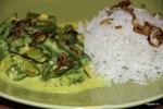 Карри из бамии с рисом басмати