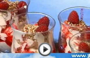 Видео рецепт десерта гранашан с малиной на Вся Соль