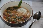 Осенний суп с турецким горохом и мангольдом