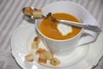 Тыквенный суп с чесночными гренками от Тьерри Маркса