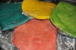 Разноцветное тесто для печенья