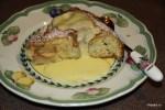 Немецкий яблочный пирог с горячим кремом